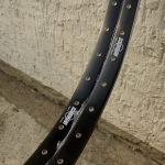 "Felgen Satz Draht 26"" (559-22) ""SCHÜRMANN"" Aluminium schwarz, geöst, 36/36 Loch, 27mm breit, Nippelbohrung 4,5mm"