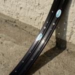 "Felgen Satz Draht 28"" (622-22)  ""GRÜNERT"", Aluminium schwarz , ungeöst, 36/36 Loch, 27mm breit, Nippelbohrung 4,5mm"