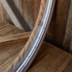 "Felgen Satz Draht 26"" x 1,75 (559-23) Stahl silber, weinrot liniert, 36/36 Loch, 35mm breit, Nippelbohrung 4,5mm"