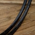 """Fahrradfelge Satz f. Wulstbereifung, 28"""" x 1 1/2 (635), Stahl, schwarz, orig. 20-30er Jahre, 36 Loch, 32mm breit"""