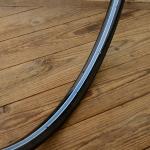 """Fahrradfelge f. Wulstbereifung, 28"""" x 1 1/2 (635), Stahl, schwarz, orig. Vorkrieg, 36 Loch, 33mm breit"""
