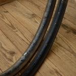 """Fahrradfelgen f. Drahtbereifung, 26"""" x 2 x 1. 3/4, (571), Stahl, schwarz, orig. 30-50er Jahre, 36 Loch, 40mm breit"""