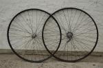 """Laufradsatz Wulstfelge 28"""" x 1 1/2,  schwarz, unliniert, 32mm breit, F+S Nabe Jahr 33  verchromt, vorn F+S Nabe,"""