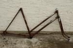 "Fahrradrahmen ""Vaterlandl"",  Damenausf., Sport, 28 Zoll,  RH=55cm, orig. 50er J., incl. Gabell ohne Tretlager"