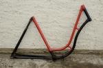 """Fahrradrahmen """"MIELE"""",  Damenausf., 28 Zoll,  RH=55cm, orig. 50er J., ohne Gabel,  ohne Tretlager"""