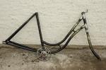 "Fahrradrahmen ""UNBEKANNT"",  tschech. Mod.,  Damenausf., 28 Zoll , RH=55cm, orig. 30er J., incl. Gabel  und Tretlager"