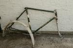 "Fahrradrahmen ""GÖRICKE"",  Herrenausf., Sport, 28 Zoll , RH=55cm, orig. 50er J., incl. Gabel u. Tretlager"