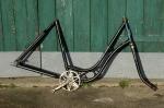 "Fahrradrahmen ""BISMARCK"",  Damenausf., 28 Zoll,  RH=54cm, orig. 50er J., incl. Tretlager u. Gabel"