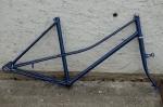 Fahrradrahmen Sport ,  Mixedausf., blau, 28 Zoll,  RH=50cm, incl. Gabel, handgelötetes Modell der 80er J., ungefahren !