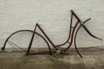 """Fahrradrahmen  """"GÖRICKE"""",  Damenausf., weinrot, 28 Zoll,  RH=56cm, Mitte 20er J., incl. Schutzblechen, Gabel u. Tretlager"""