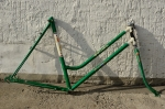 """Fahrradrahmen  """"GÖRICKE DIAVOLETTA"""",  seltene Sport Damenausf., grün, rot/weiss, 28 Zoll,  RH=57cm, 60/70er J., ohne Tretlager"""