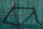 "Fahrradrahmen  ""OPEL Doppelstabil"",  Herrenausf., schwarz, 26 Zoll Ballonausf.,  RH=55cm, 30er J., incl. Gabel"