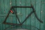 """Fahrradrahmen  """"UNBEKANNT"""",  Herrenausf., schwarz , 28 Zoll,  RH=61cm, 10/20er J., incl. Gabel"""