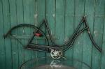 "Fahrradrahmen  ""DELPHIN"",  Damenausf., schwarz, 26 Zoll Ballonausf.,  RH=56cm, 30er J., incl. Gabel u. Tretlager"