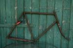 """Fahrradrahmen  """"UNBEKANNT"""",  Herrenausf., schwarz,  RH=62cm, 10/20er J., incl. Gabel"""