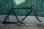 "Fahrradrahmen  ""NOFA"",  Herrenausf., schwarz, 28 Zoll ,  RH=55cm, 30er J., incl. Gabel u. Tretlager"