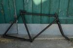 """Fahrradrahmen  """"UNBEKANNT"""",  Herrenausf., schwarz, 28 Zoll ,  RH=55cm, 20/30er J., incl. Gabel"""