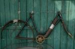 "Fahrradrahmen  ""EDELWEISS"",  Damenausf., schwarz, 28 Zoll ,  RH=56cm, 30er J., incl. Gabel u. Tretlager"
