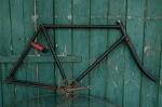"Fahrradrahmen  ""OPEL"",  Herrenausf., schwarz, 28 Zoll,  RH=57cm, 30er J., incl. Gabel u. Tretlager"