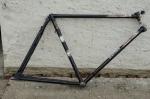 """Fahrradrahmen   """"GÖRICKE"""",  Stahl gemufft, schwarz, 28 Zoll,  RH=56cm, 60 er J., ohne Gabel ohne Tretlager"""