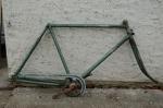 "Fahrradrahmen   ""ADLER"",  Stahl gemufft, grün, 28 Zoll,  RH=56cm, 60 er J., incl. Gabel u Tretlager"