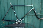 "Fahrradrahmen  ""ELITE"",  Herrenausf., schwarz , 28 Zoll,  RH=55cm, 50/60er J., incl. Gabel, alte Neuware !!"