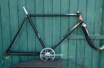 "Fahrradrahmen  ""BRANDENBURG"",  Herrenausf., schwarz , 28 Zoll,  RH=55cm, 50er J., incl. Gabel u. Tretlager"