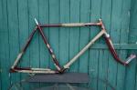 """Fahrradrahmen  """"BRANDENBURG"""",  Herrenausf., weinrot , 28 Zoll,  RH=55cm, 50er J., incl. Gabel"""