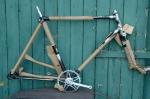 "Fahrradrahmen  ""DONAR"",  Herrenausf., Sport, schwarz/silber , 26 Zoll,  RH=55cm, 50er J., incl. Gabel u. Tretlager"