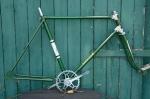 """Fahrradrahmen  """"EXCELSIOR"""",  Herrenausf., Sport, grün/creme , 26 Zoll,  RH=55cm, 50er J., incl. Gabel u. Tretlager"""
