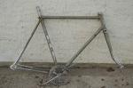 "Fahrradrahmen, ""BERTIN"", Rennrahmen, grau/Chrom , 28 Zoll,  RH=59cm, 50/60er J., incl. Gabel u. Tretlager"