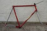"""Fahrradrahmen, """"TOMAS"""", Rennrahmen, rot/chrom , 28 Zoll,  RH=62cm, 70/80er J., incl. Gabel ohne Tretlager"""