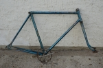 Fahrradrahmen  Rennrahmen. blau, schön gearbeitet, 28 Zoll ,  RH=59cm, 30/50er J., incl. Gabel u. Tretlager