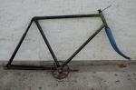 """Fahrradrahmen """"WANDERER"""" ,  Herrenausf., schwarz, 28 Zoll,  RH=60cm, orig. 30er J., incl. Gabel, ohne Steuersatz"""