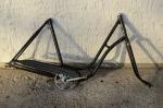 "Fahrradrahmen  ""BISMARCK"",  Damenausf., schwarz, 28 Zoll,  RH=54cm, 50er J., incl. Gabel + Tretlager"