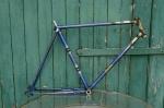 "Fahrradrahmen  ""MEISTER"",  Herrenausf., Sport, blau , 26 Zoll,  RH=56cm, 50er J., ohne Gabel u. Tretlager"