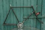 "Fahrradrahmen  ""GÖRICKE"",  Herrenausf., schwarz , 28 Zoll,  RH=61cm, 50er J., incl. Gabel u. Tretlager"