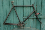 "Fahrradrahmen , rarer früher  ""Halbrenner"",  Herrenausf., schwarz , 28 Zoll,  RH=62cm, 10er Jahre., incl. Gabel u. Tretlager"