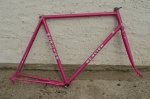"Fahrradrahmen, Rennrad ""MERCIER"", 70er Jahre, Mercier-violett, 28 Zoll,  RH=59cm (c-t), Originalzustand"
