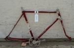 "Fahrradrahmen  ""EXCELSIOR Exquisit"",  Herrenausf., Sport, alte Neuware !, rot/creme , 26 Zoll,  RH=55cm, 50er J., incl. Gabel u. Tretlager"