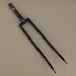"""Gabel 28"""", orig. 30-50er J. unrestauriert, Schaftlänge 162 mm, Weite oben 60 mm, Zustand siehe Bilder"""