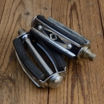 Pedale, UNION Sport, 50er Jahre ohne Reflektor, schwarzer Gummi, perfekte alte Neuware !