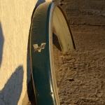 """Schutzblech 26""""  """"VICTORIA"""" für 98 ccm Motorfahrrad, grau, Breite=93mm, schöner Originalzustand"""