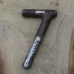 Winkelsattelstütze, Durchmesser: 24,1 mm, Länge: 175 mm, gebraucht, orig. 10-40er Jahre, Zustand siehe Bilder.
