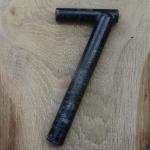 Winkelsattelstütze, Durchmesser: 27,1 mm, Länge: 220 mm, gebraucht, orig. 10-40er Jahre, Zustand siehe Bilder.