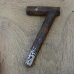 Winkelsattelstütze, Durchmesser: 23,5 mm, Länge: 165 mm, gebraucht, orig. 10-40er Jahre, Zustand siehe Bilder.