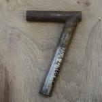 Winkelsattelstütze, Durchmesser: 25,1 mm, Länge: 180 mm, gebraucht, orig. 10-40er Jahre, Zustand siehe Bilder.