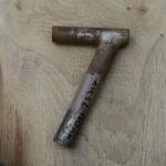Winkelsattelstütze, Durchmesser: 25,5 mm, Länge: 160 mm, gebraucht, orig. 10-40er Jahre, Zustand siehe Bilder.