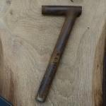 Winkelsattelstütze, Durchmesser: 24,4 mm, Länge: 240 mm, gebraucht, orig. 10-40er Jahre, Zustand siehe Bilder.