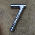 Winkelsattelstütze, Durchmesser: 22,2 mm, Länge: 165 mm, gebraucht, orig. 10-40er Jahre, Zustand siehe Bilder.